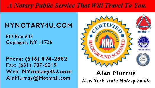 Certified & Background Screened Notary Signing Agent