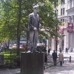 "This is a real person who does not move. I call him the ""live"" silverman statue"